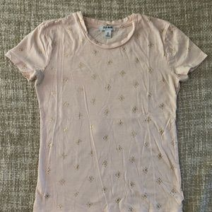 Old Navy Tops - Old Navy Graphic Tee XS Blush with Gold Pattern
